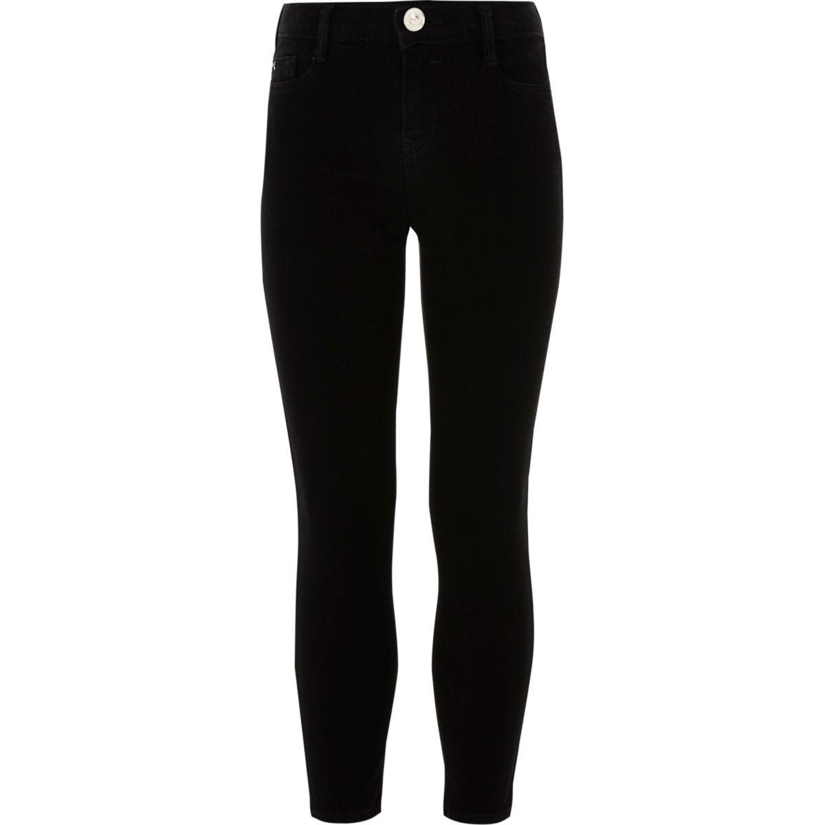 Alannah – Schwarze, legere Skinny Jeans