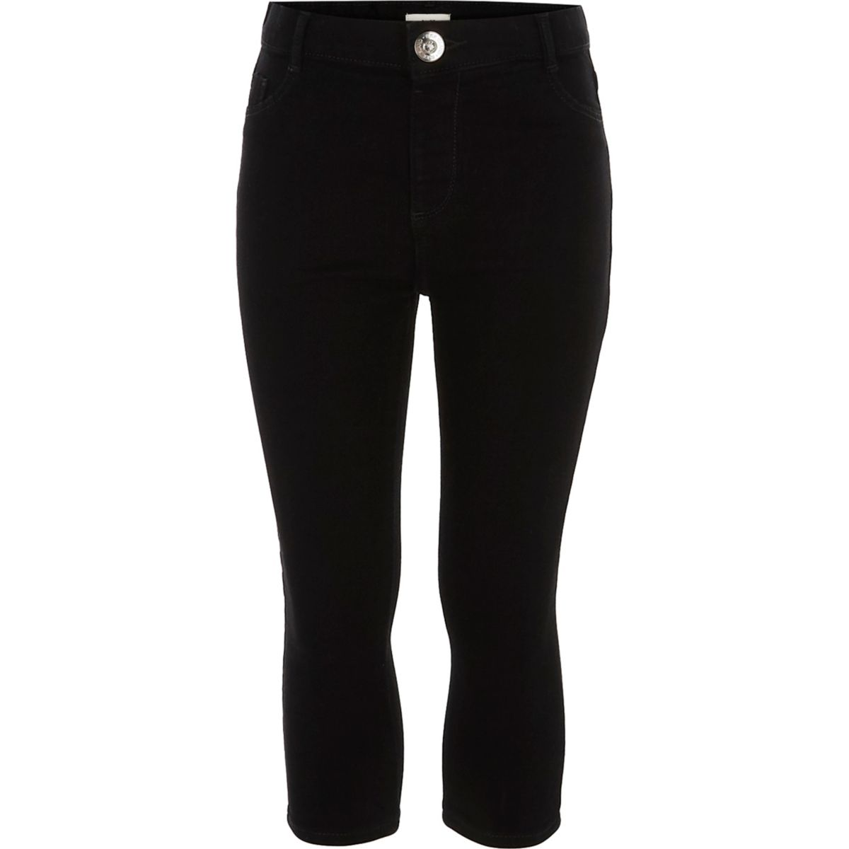 Girls black Molly cropped mid rise jeans