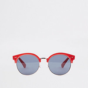 Girls red retro tinted lens sunglasses