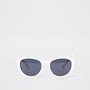 Mini - Witte zonnebril met kattenoortjes voor meisjes