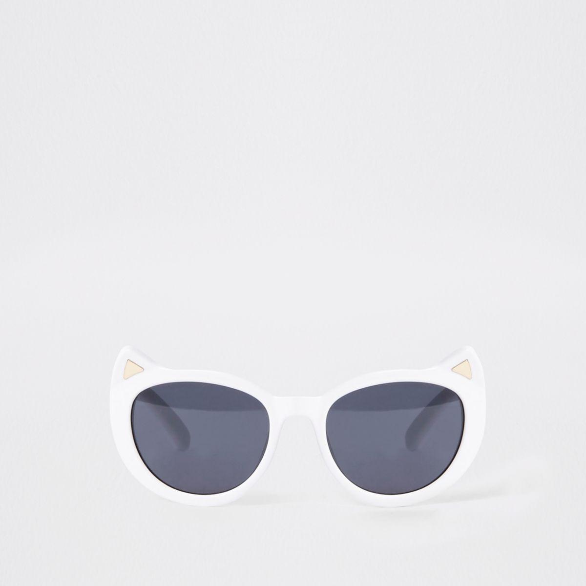 Mini girls white cat ear sunglasses