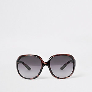 Mini girls black tortoiseshell sunglasses