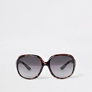 Schwarze Schildpatt-Sonnenbrille
