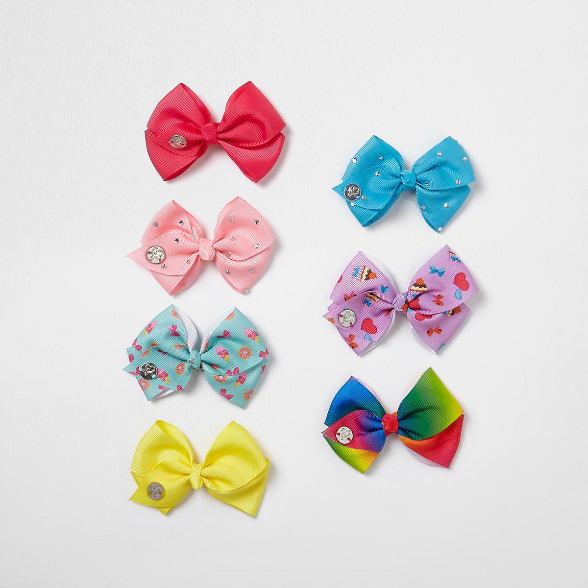 JoJo Bows – Lot de nœuds multicolores pour fille