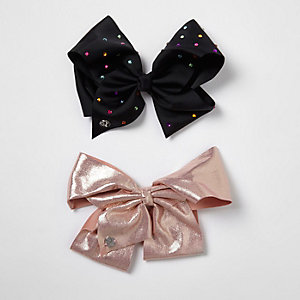 Girls black and pink JoJo Bows pack