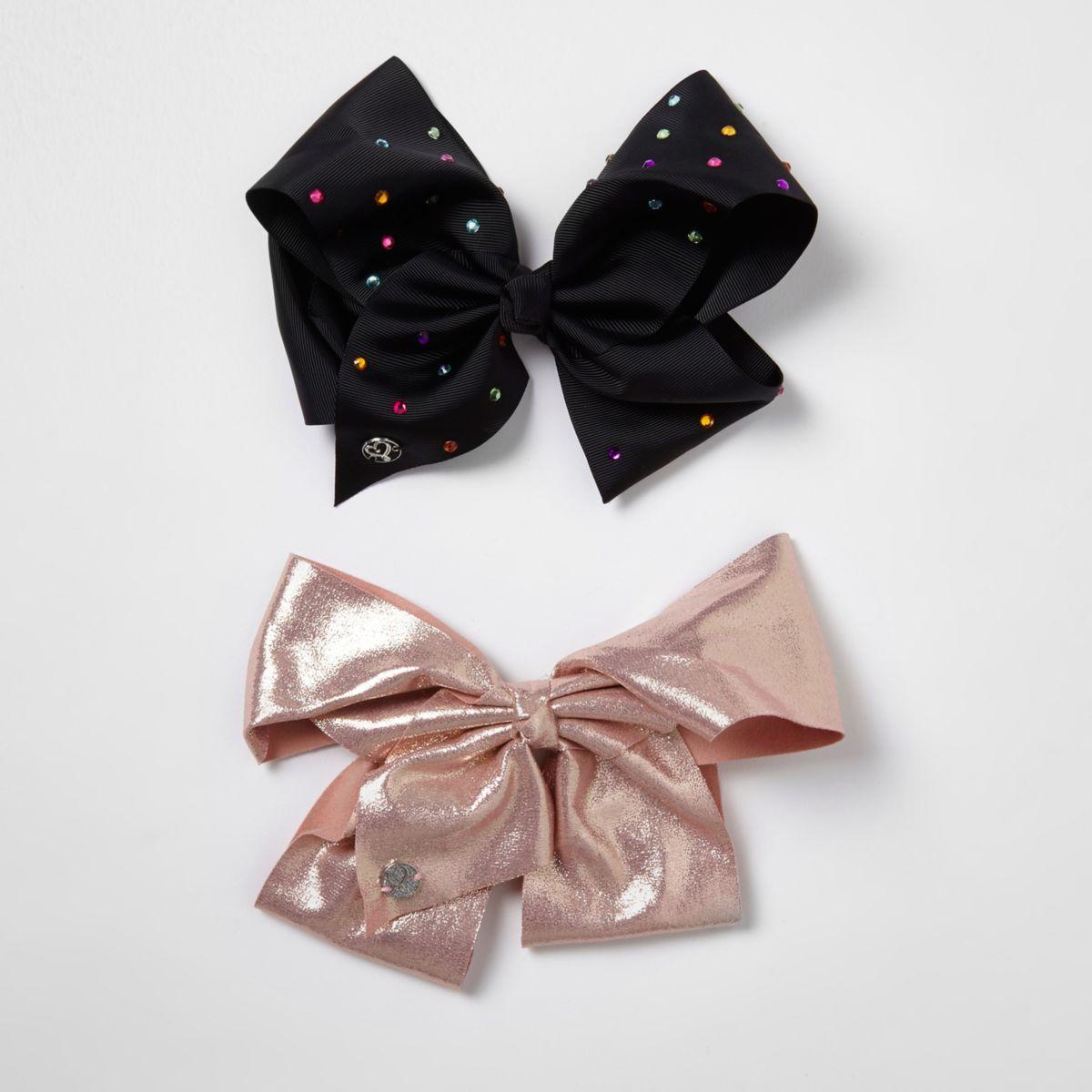 Girls black and pink JoJo Bows pack