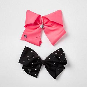 Girls pink large JoJo Bows pack