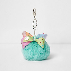 Girls mint green JoJo Bows keyring