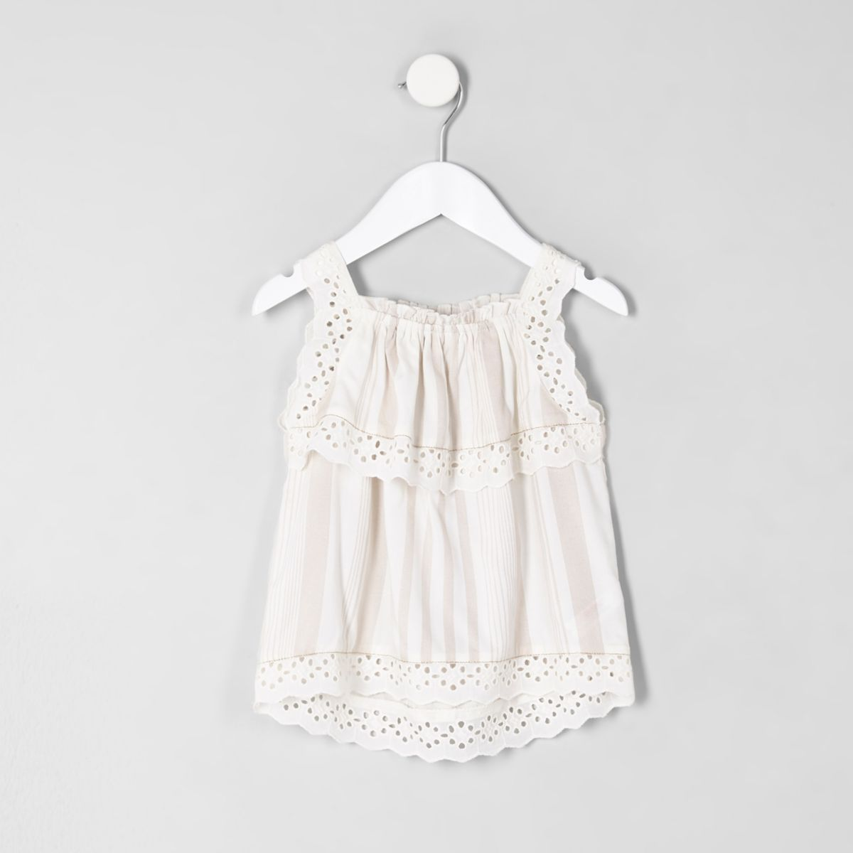 Mini girls stripe print cami