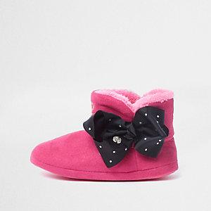 JoJo Bows - Roze laarspantoffels voor meisjes