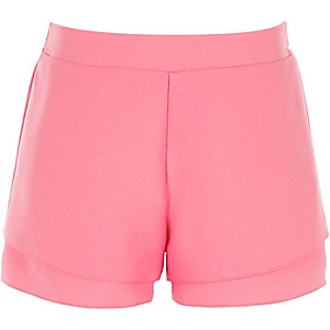 Girls pink double shorts