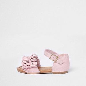 Mini - Roze sandaal met franje voor meisjes