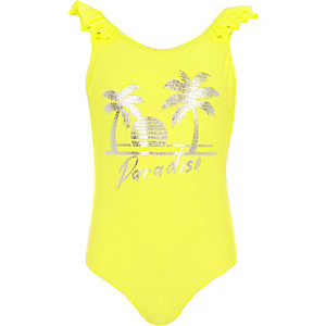 Girls yellow 'paradise' swimsuit