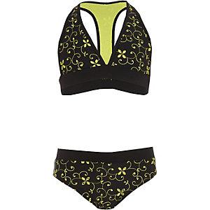 Schwarzer Triangel-Bikini