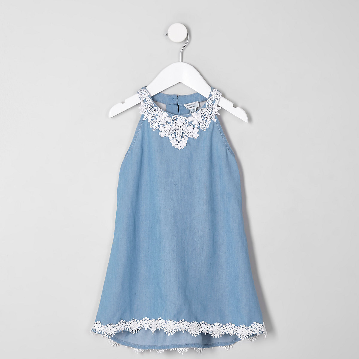 942c7aad41 Mini girls lace denim trapeze dress - Baby Girls Dresses - Mini Girls -  girls
