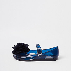 Marineblaue Jelly-Schuhe mit Glitzer