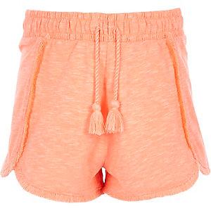 Short en jersey rose à pampilles pour fille