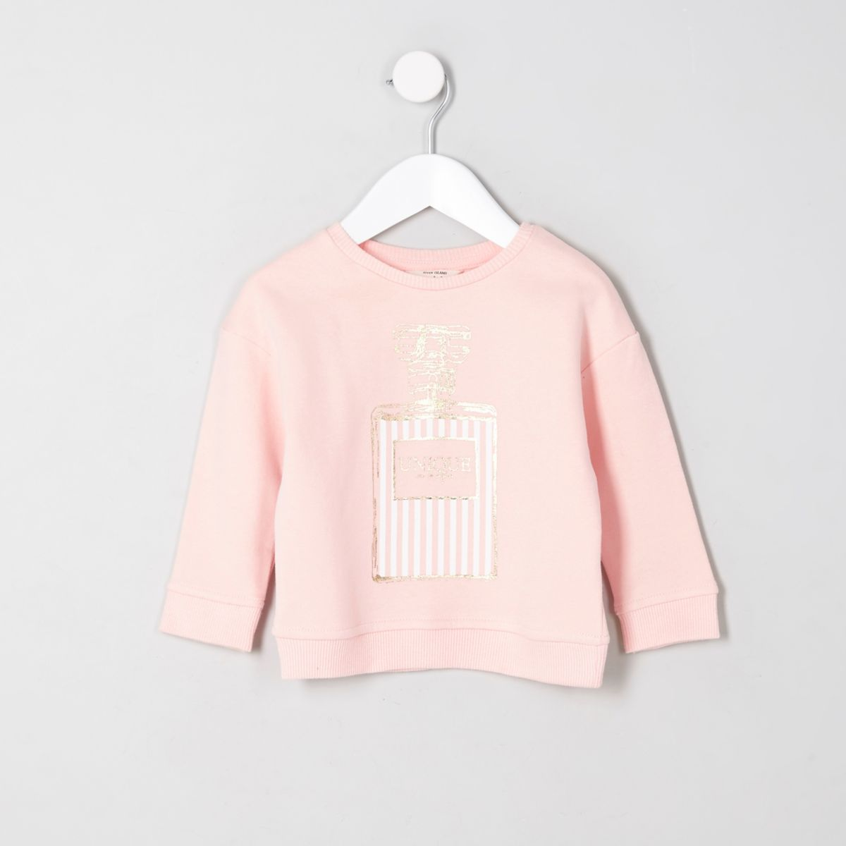 Mini girls pink 'unique' perfume sweatshirt