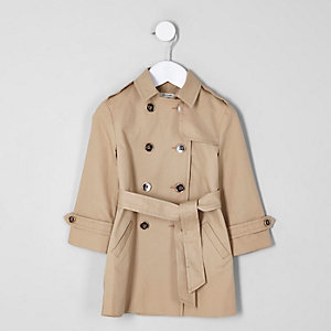 Mini girls beige trench coat