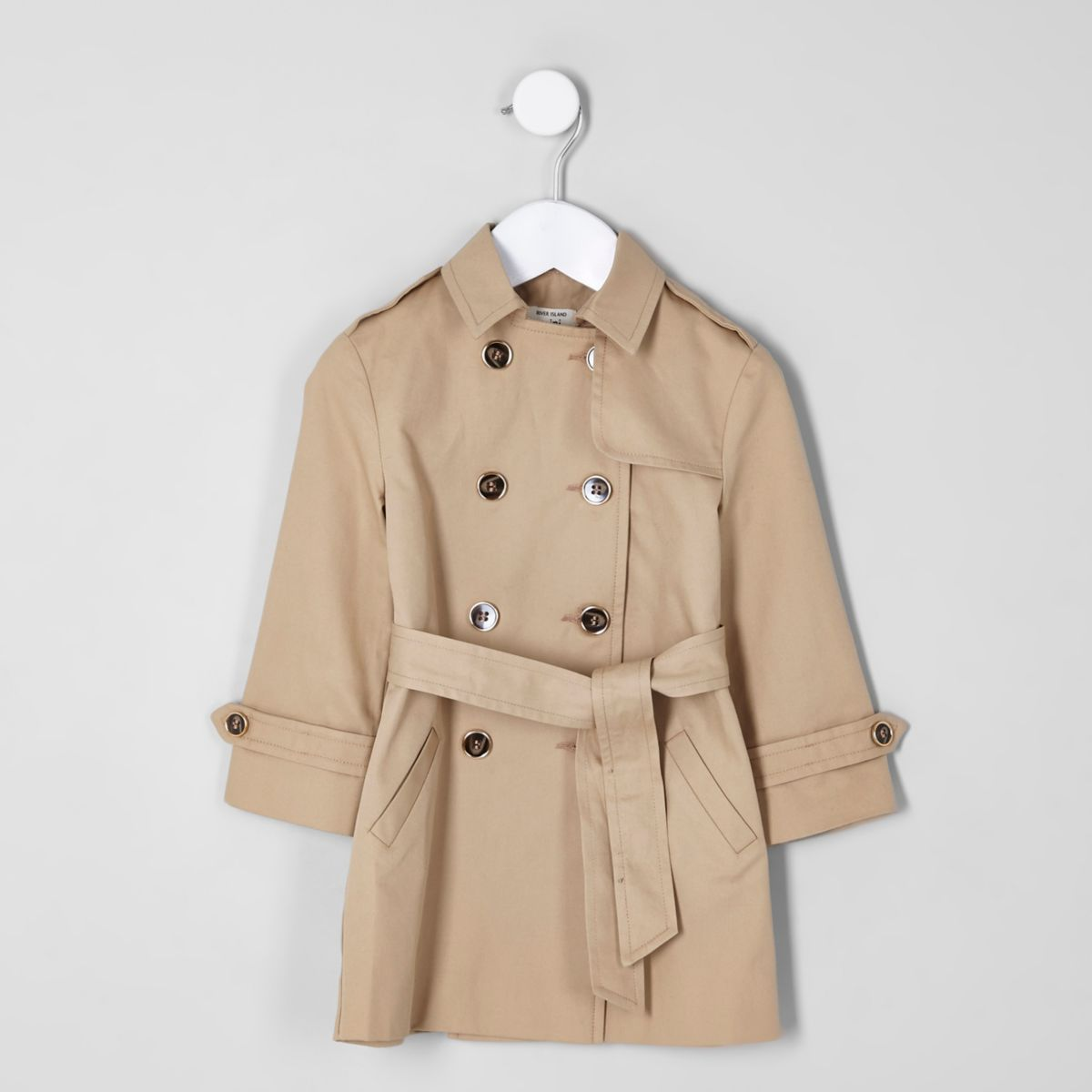 Mini girls beige trench coat