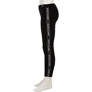 RI – Legging noir avec bande à logo pour fille