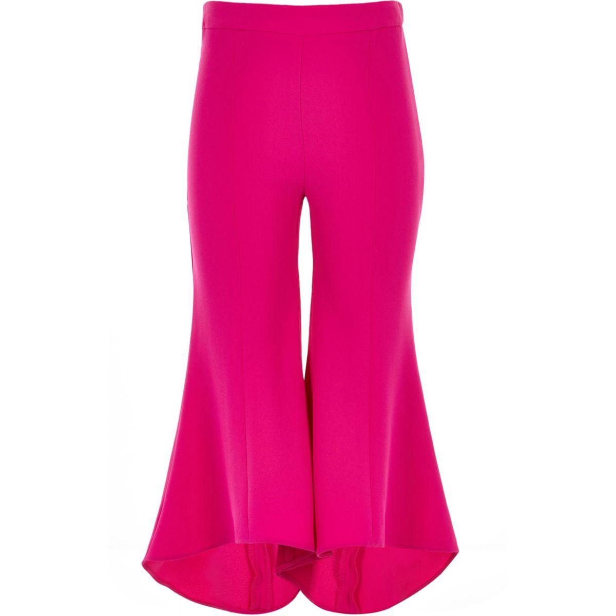 Girls bright pink RI Studio flared pants