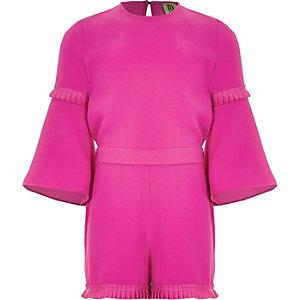 RI Studio - Roze jumpsuit met plooien voor meisjes