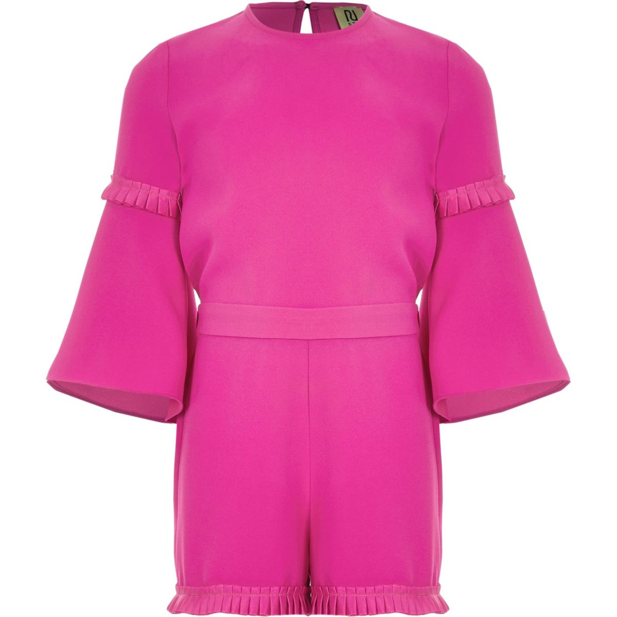 Girls pink RI Studio pleated jumpsuit