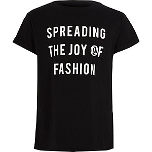 "Schwarzes T-Shirt ""Joy of Fashion"""