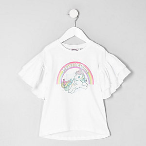 Mini - Wit T-shirt met 'My little pony'-print voor meisjes