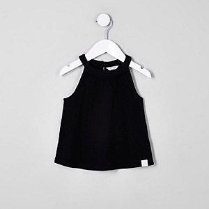 Mini - Zwarte A-lijntop voor meisjes