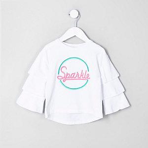 """Weißes T-Shirt """"sparkle"""""""