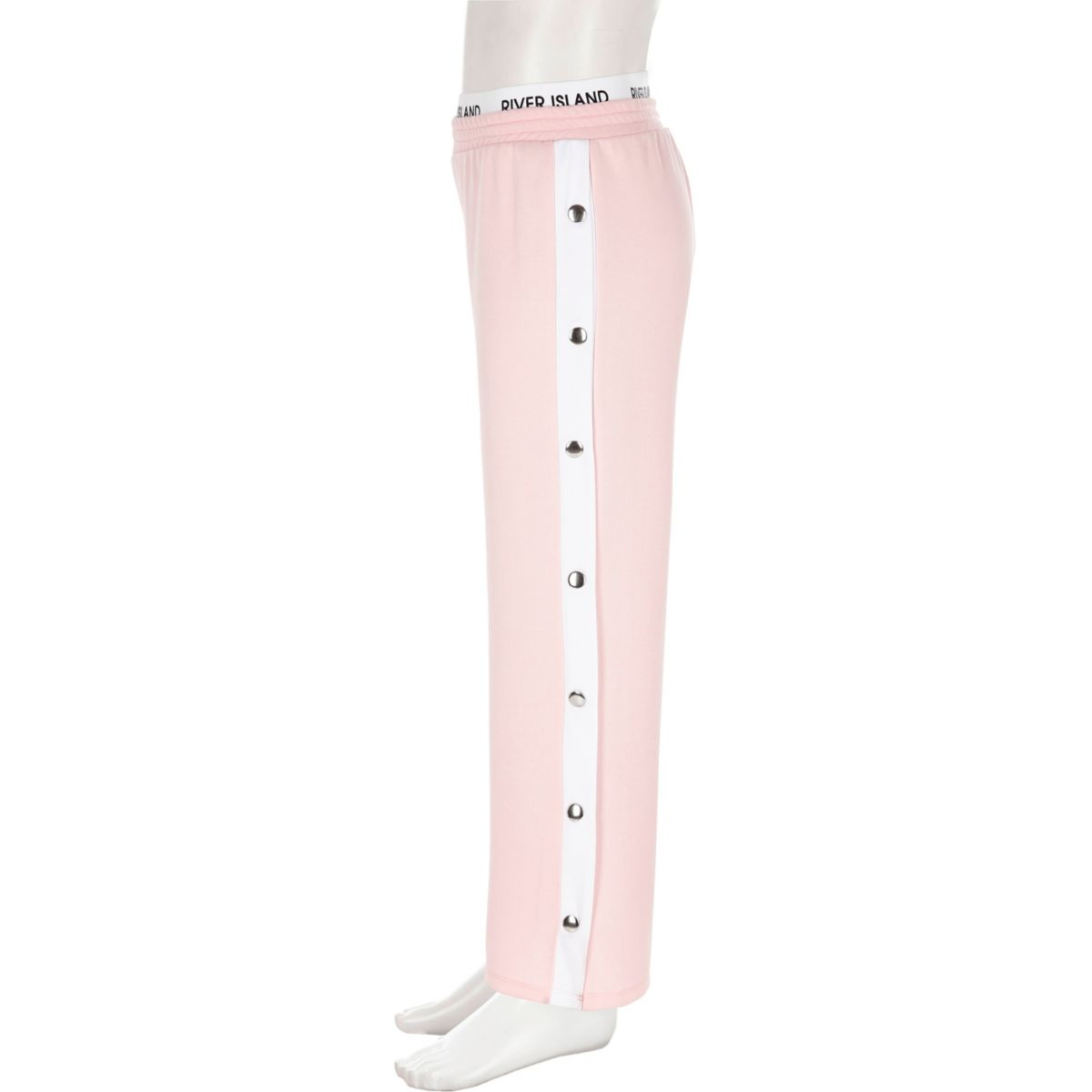 Girls RI Active pink popper side trousers