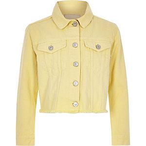 Veste en jean jaune clair pour fille