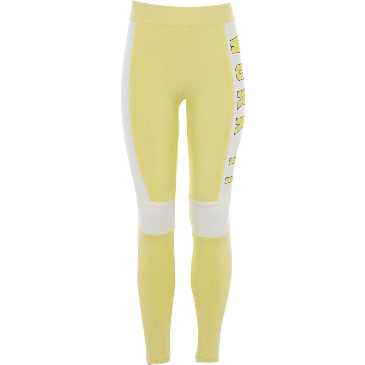 Legging jaune «work it» colour block pour fille