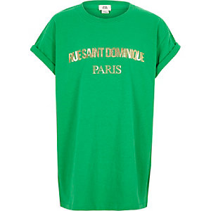 "Grünes T-Shirt ""Rue Saint Dominique"""
