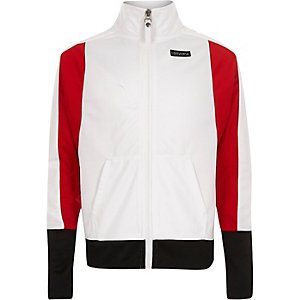 Girls Converse white zip up jacket