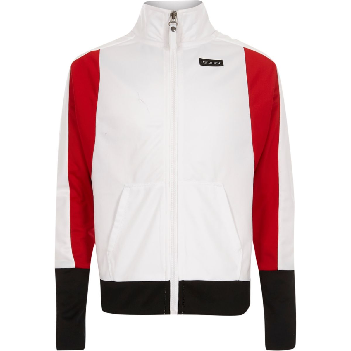 Girls white Converse zip up jacket