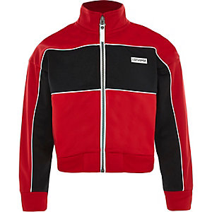Girls red Converse zip up jacket