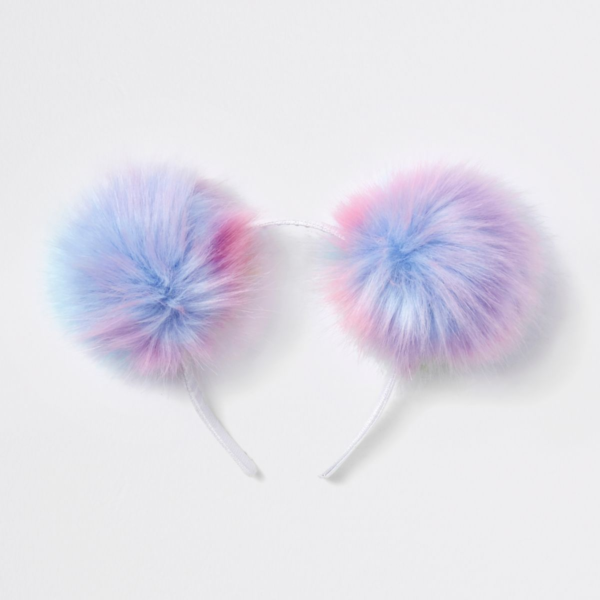 Girls light purple pom pom headband