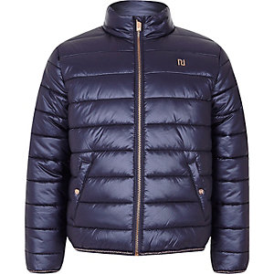 Girls navy padded jacket