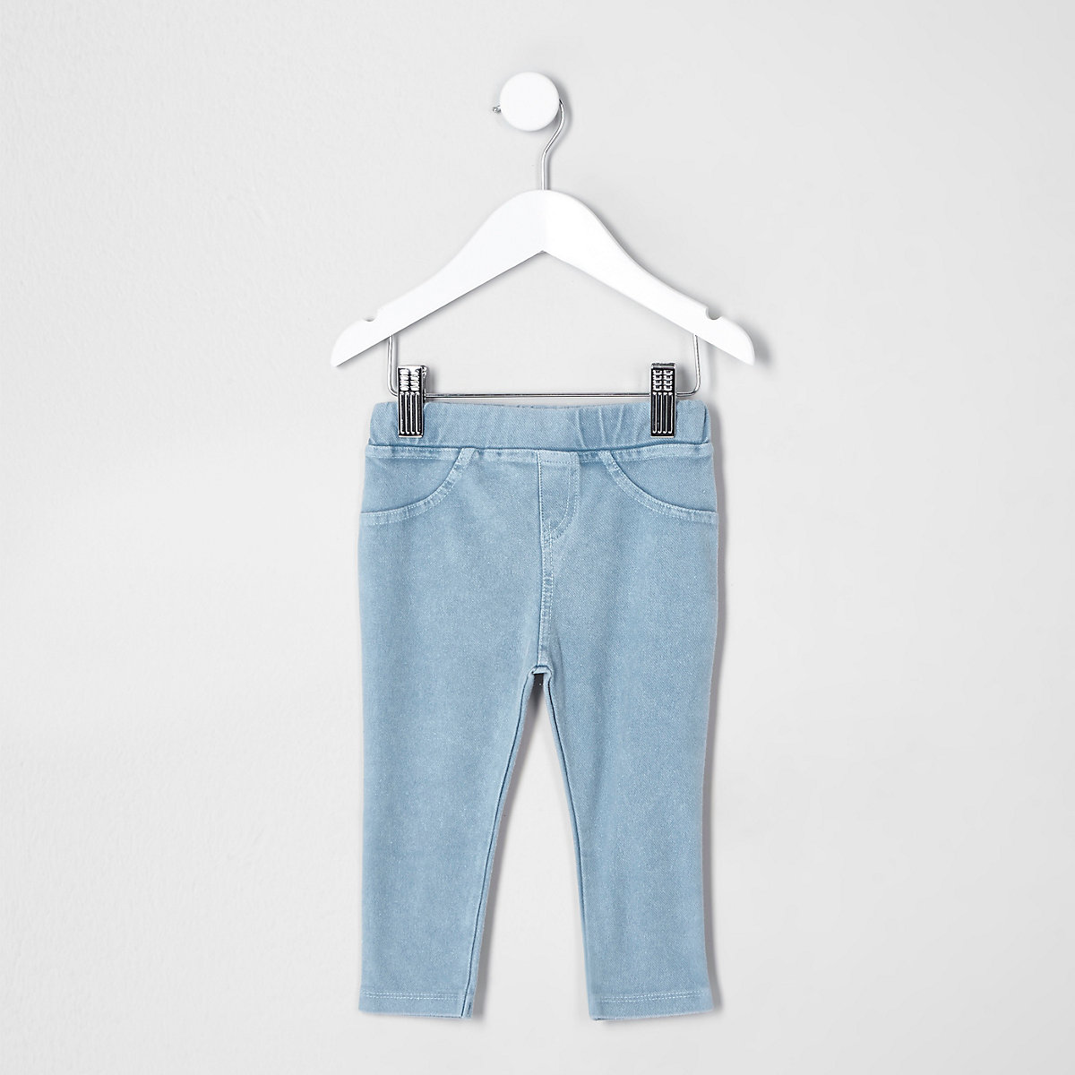Mini kids blue denim look leggings
