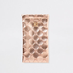 Rose gold metallic sunglasses case