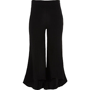 Girls black RI Studio flared trousers
