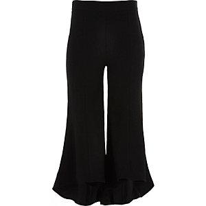 RI Studio - Zwarte wijduitlopende broek voor meisjes