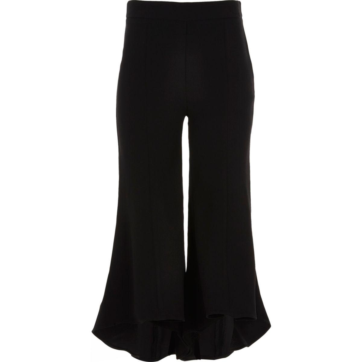 Girls black RI Studio flared trousers