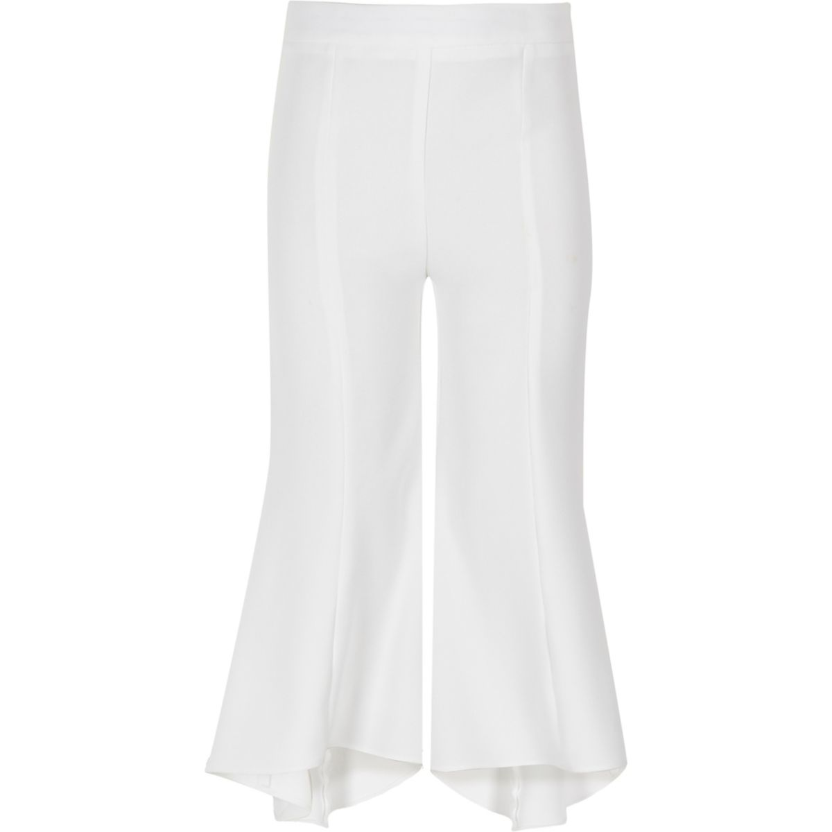 Girls  white RI Studio flared trousers