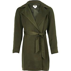 Girls khaki duster jacket