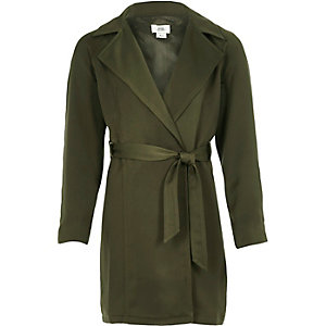 Girls khaki duster jacket
