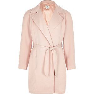 Girls pink long sleeve duster jacket